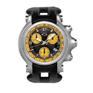 OAKLEY オークリー 10-219 Holeshot (ホールショット) イエロー×ブラック ブラックラバー 腕時計 メンズ|gifttime
