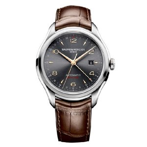 BAUME AND MERCIER ボーム&メルシエ 10111 CLIFTON GMT DUAL TIME Mens クリフトン M0A 10053 腕時計 メンズ|gifttime