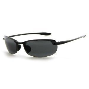 Maui Jim[マウイジム] 405-02 Makaha PolarizedPlus2 *偏光レンズ Black ブラック・Neutral Grey グレイ レディース メンズサングラス★日本製|gifttime