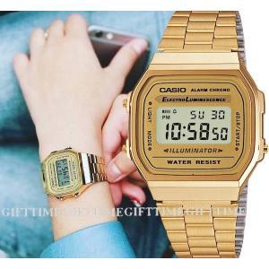 ポイント5倍★[メール便]A168WG-9 スタンダード 時計 カシオ CASIO デジタル ゴールド ベージュ 海外モデル レディース メンズ チープカシオ チプカシ|gifttime