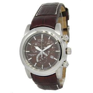 CITIZEN シチズン at0550-11x Men's ECO-DRIVE WR100 エコドライブ 海外モデル クロノグラフ 腕時計|gifttime