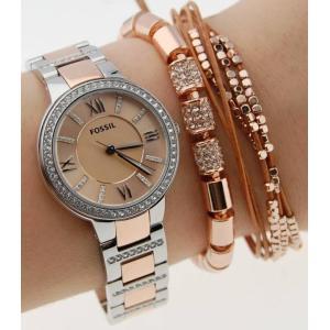 FOSSIL フォッシル VIRGINIA ブレスレット 付き ヴァージニア バージニア アナログ レディース 腕時計 ES4137SET gifttime