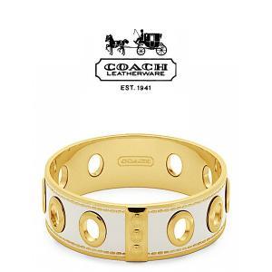 ポイント5倍★早よつく★ COACH バングル(ゴールド×ホワイト)コーチ ブレスレット f96353-gdwt F96353 GDWT gifttime