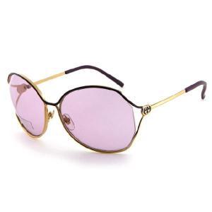 GUCCI グッチ gg2846ye9y4 Gold・Black Purple サングラス|gifttime