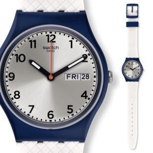 [メール便][ケース割れ]ポイント5倍★SWATCH スウォッチ 腕時計 GN720 ORIGINALS GENT WHITE DELIGHT ホワイト・デライト オリジナル・ジェント 時計|gifttime
