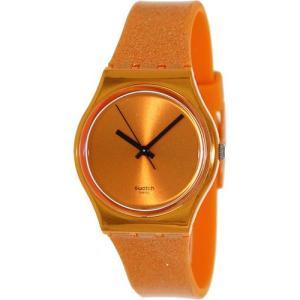 SWATCH スウォッチ 腕時計 GO111 ORIGINALS GENT(オリジナルジェント ラメオレンジ GO111-101|gifttime