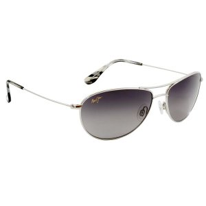 Maui Jim[マウイジム] gs245-17 Baby Beach Silver / Neutral Grey PolarizedPlus2 *偏光レンズ サングラス made in japan|gifttime