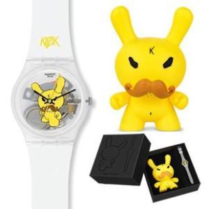 SWATCH スウォッチ GZS49 GENT ジェント 2011 CLUB WATCH【 TENNIS PRO 】 【 X KIDROBOT】 時計|gifttime