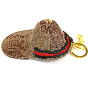 ポイント5倍★LYDC[エルワイディーシー] h2003-brown キーホルダー 小物入れ 帽子型 ブラウン CAP コインケース|gifttime
