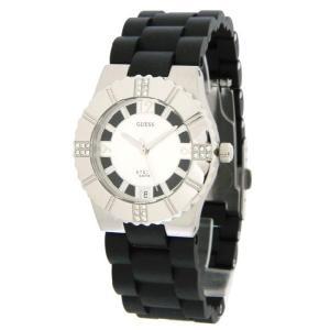 GUESS ゲス l80332l1 シルバー ラバー素材 レディース 腕時計 gifttime