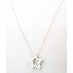 ポイント5倍★早よつく★Sterling Silver Cutout Star Necklace  m11295674 レディース シルバー 星 スター ネックレス gifttime