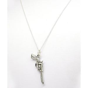ポイント5倍★[メール便]早よつく★Sterling Silver ステアリングシルバー Hand Gun ガン 銃  m11360301 レディース ネックレス gifttime