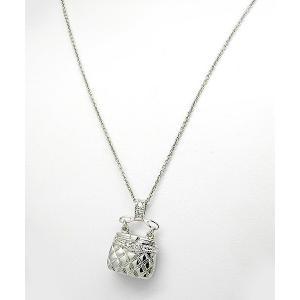 ポイント5倍★[メール便]早よつく★ステアリングシルバー Sterling Silver Cubic Zirconia Bag バッグ m945127 レディース ネックレス gifttime