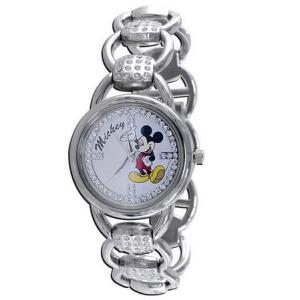 Disney ディズニー mck197 Disney Mickey Mouse Womens Clear CZ Stones ミッキーマウス レディース 時計 gifttime