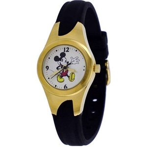 Disney ディズニー mck333  Mickey Mouse Gold Tone Silicone Band ミッキーマウス レディース 時計 gifttime