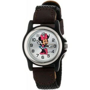 Disney ディズニー mck624 Minnie Mouse  Black and Brown Strap ミニーマウス レディース 時計 gifttime
