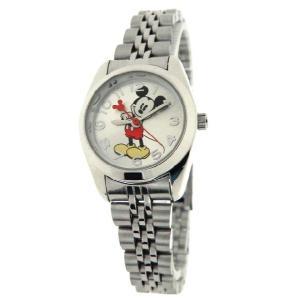 Disney ディズニー mck807 Mickey Mouse Silvertone Classic Bracelet レディース 時計 gifttime