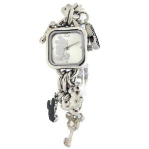 Disney mk2057 Mickey Mouse Silver Sunray Charm Bracelet ミッキーマウス ブレスレットタイプ 腕時計 レディース gifttime