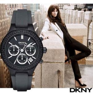 ポイント5倍★DKNY ディーケーエヌワイ ny8186 Black Ceramic クロノグラフ レディース  腕時計|gifttime