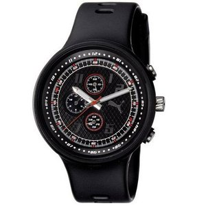 PUMA プーマ pu910401001 Mens Slick  Black クロノグラフ メンズ 腕時計|gifttime