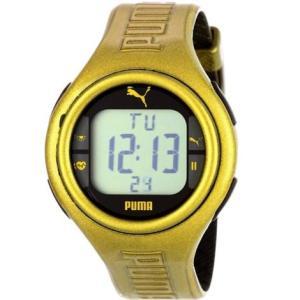 PUMA プーマ pu910541007 Mens Pulse Metallic Gold Heart Rate Monitor デジタル メンズ 腕時計|gifttime