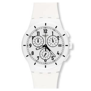 SWATCH スウォッチ 【2013年モデル】SUSW402 ORIGINALS CHRONO オリジナルクロノ TWICE AGAIN WHITE トゥワイス アゲイン ホワイト 時計|gifttime