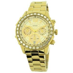 GUESS ゲス u0016l2 ゴールド クリスタル クロノグラフ レディース 腕時計 gifttime
