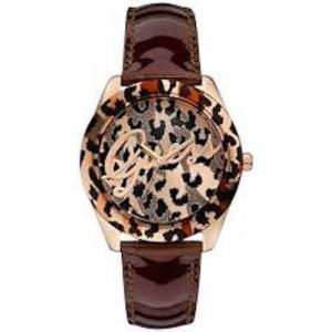 GUESS[ゲス] u0455l3 ブラウンゴールド アニマル柄 レディース 腕時計 U0455L3 新入荷 モデル! gifttime