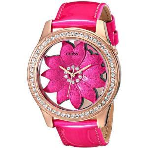 GUESS ゲス u0534l3 ピンク パテントレザー フラワー レディース 腕時計 gifttime