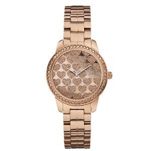 GUESS ゲス u0536l1 ローズゴールド×ラメハート レディース 腕時計 gifttime