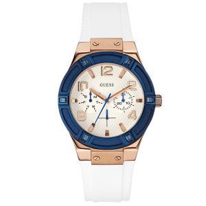 GUESS ゲス ネイビー×ホワイト ラバーバンド レディース 腕時計 u0564l1 gifttime