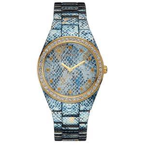 GUESS ゲス u0583l1 ブルー×パイソンプリント レディース 腕時計 gifttime