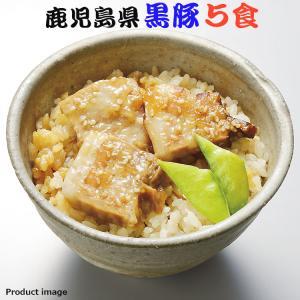 ギフト 鹿児島県産 黒豚 ご飯 5食 セット わっぱめし 詰め合わせ お取り寄せ gifttown-okhotsk