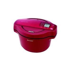 SHARP(シャープ) KN-HT99B-R 電気無水鍋 HEALSIO(ヘルシオ)ホットクック 1.6L レッド系|giga-web
