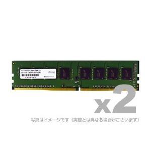 アドテック デスクトップ用増設メモリ DDR4-2666 UDIMM 16GB 2枚組 ADTEC ADS2666D-16GW|gigamedia2