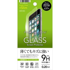 iPhone 7用 液晶保護ガラス 光沢 スーパークリア 0.2mm PG-16MGL03 PGA|gigamedia2