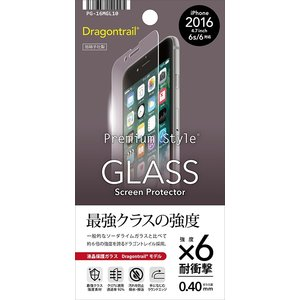 iPhone7用 液晶保護ガラス ドラゴントレイル PG-16MGL10 PGA|gigamedia2