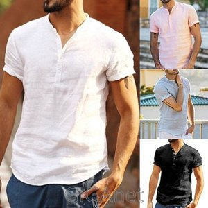 シャツ メンズ カジュアルシャツ メンズ 半袖 無地 トップス アウトドア 通勤 薄て シャツ アメ...