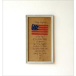 壁飾り 壁掛け インテリア かわいい おしゃれ アンティーク風 ウォールデコ 壁面 飾り レトロ 星条旗 グッズ 雑貨 リネンの壁飾り USA2タイプ|gigiliving|02