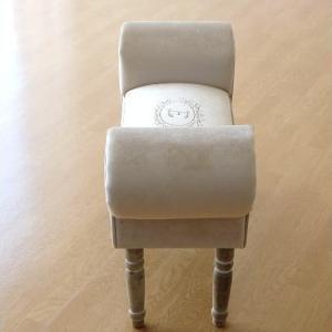 ベンチ スツール おしゃれ かわいい 椅子 玄関 布 クッション スリムなスツールベンチ E|gigiliving