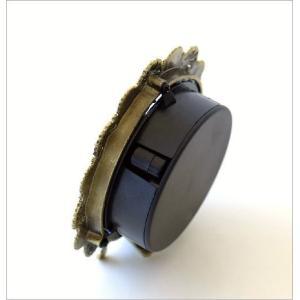 置き時計 置時計 おしゃれ アナログ 可愛い かわいい エレガント クラシック テーブルクロック パステルフラワー|gigiliving|03