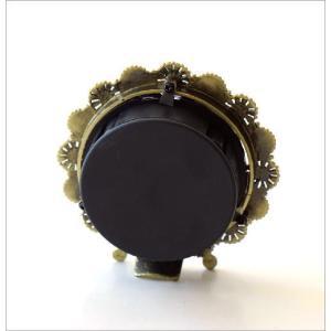 置き時計 置時計 おしゃれ アナログ 可愛い かわいい エレガント クラシック テーブルクロック パステルフラワー|gigiliving|04