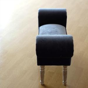 ベンチ スツール おしゃれ かわいい 椅子 玄関 布 クッション スリムなスツールベンチ B|gigiliving