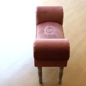 ベンチ スツール おしゃれ かわいい 椅子 玄関 布 クッション スリムなスツールベンチ F|gigiliving