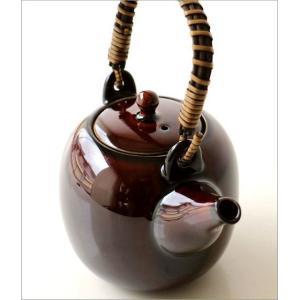 土瓶 急須 きゅうす おしゃれ 日本製 美濃焼 土瓶 うるし釉|gigiliving|03