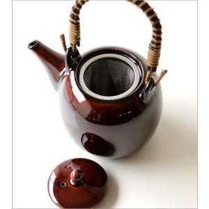 土瓶 急須 きゅうす おしゃれ 日本製 美濃焼 土瓶 うるし釉|gigiliving|04