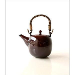 土瓶 急須 きゅうす おしゃれ 日本製 美濃焼 土瓶 うるし釉|gigiliving|05