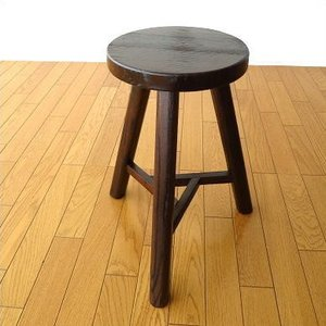 丸椅子 スツール 木製 おしゃれ 丸イス いす 天然木 アジアン トライアングルスツール|gigiliving
