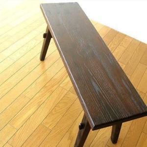 ベンチ 木製 90 長椅子 玄関 アジアン家具 木製ベンチ90|gigiliving