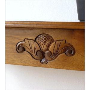 コンソールテーブル 無垢 玄関 花台 スリム アンティーク モダン 天然木 アジアン家具 マホガニーのコンソール|gigiliving|05